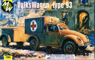 KDF Volkswagen Beetle Type 93 1 72 Military Wheels 7203