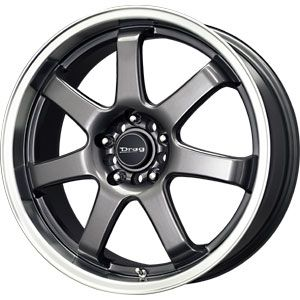 New 18x7 5 5x100 5x114 3 Drag Dr 35 Gun Metal Wheels Rims
