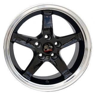 Single 17x9 Black Cobra R Wheel Fits Mustang® 94 04
