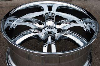 Akuza Dominion 701 20 Chrome Rims Wheels Silverado Denali 07 Up