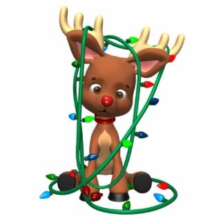 Cute Christmas Rudolph the Red Nosed Reindeer Holi Acrylic Cut Out