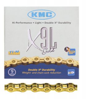 KMC X9L 9 Speed Road Bike Bicycle Chain Gold 116 Links