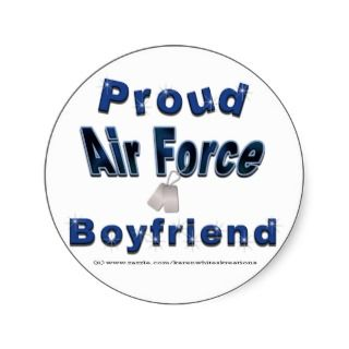Proud Air Force Boyfriend Stickers