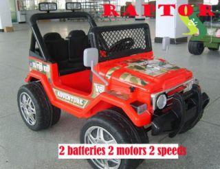 Power Ride on Raptor Wrangler Remote Control Wheels  Car New