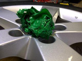 Matte Black Vinyl Rim Wrap 6X 24X24
