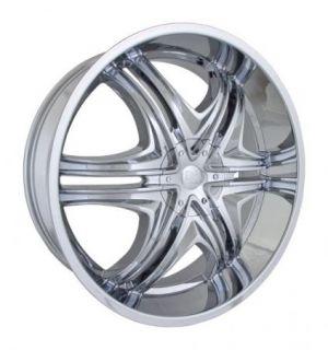24x9 Et 15 Chrome DZ 103 Wheels Rims 5 or 6 Lug Rear Wheel Drive Cars