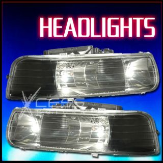 1999 2002 Chevy Silverado Black Headlight LH RH