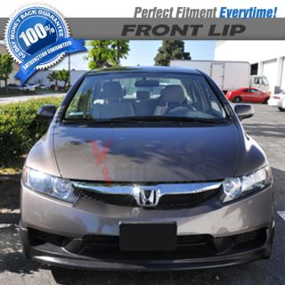 09 11 Honda Civic Mug 4DR Sedan PU Black Front Bumper Lip Spoiler