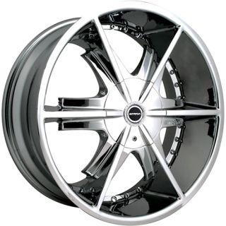 20x8.5 Chrome Strada Pistola Wheels 5x115 5x120 +15 DODGE CHALLENGER