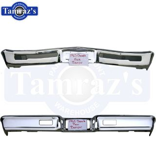65 Chevelle Malibu El Camino Front Rear Bumper Set Triple Chrome