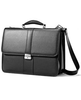 Samsonite Flapover Briefcase, Leather Laptop Friendly Business Case