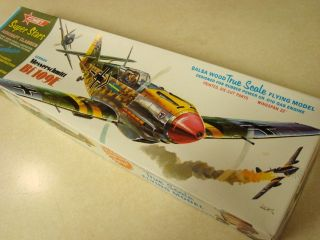 Comet Messerschmitt BF 109E Balsa Model Airplane Kit