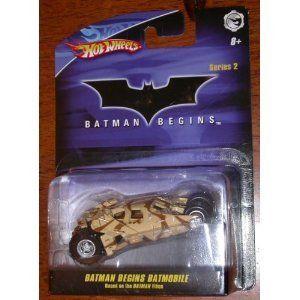 Features of Mattel Hot Wheels 150 Batman Begins Batmobile Tumbler