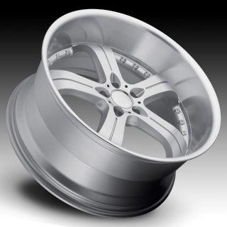 MRR GT4 22x9 5 5x120 18 Silver Machined Rims Wheels