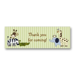 Adventure Jungle Animal Favor Gift Tags Business Card