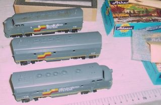 Older Custom Painted Athearn HO Seaboard F 7A F 7B F 7A Diesel Set OBS