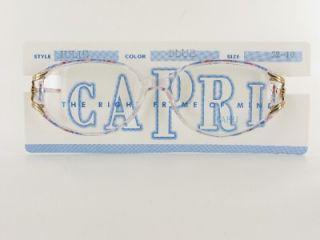 Capri  Julie  Ladies Large Clear Plastic Eyeglass Frames Purple Pink