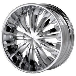 24 inch Greed Flamboyant Chrome Wheels Rims 5x5 5x127