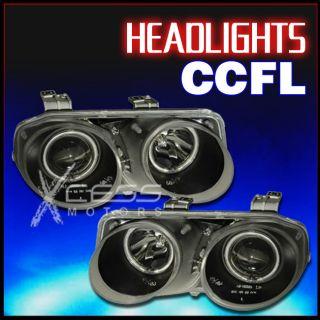1998 2001 Acura Integra CCFL Halo Projector Black Clear Headlight LH