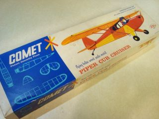 Comet Piper Cub Cruiser Model Airplane Kit 30 Wingspan