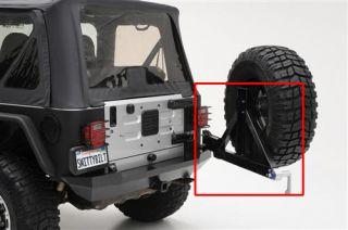 Smittybilt 76654 87 06 Jeep Wrangler XRC Rear Swing Away Tire Carrier