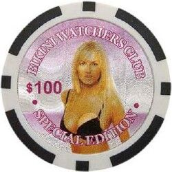 PC Sexy Bikini Girls Laser Poker Chip Samples 131
