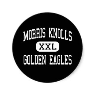 Morris Knolls   Golden Eagles   High   Rockaway Round Sticker