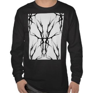 Tribal Deer Skull Tattoo Fantasy Digital Collage Tee Shirt