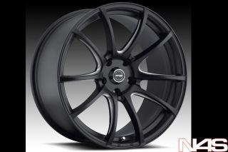 128 135 MRR LT1 Lightweight Concave Black Staggered Wheels Rims