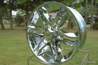 20x8 5 Ford F150 Mainline American Racing Wheel High Offset Chrome 6