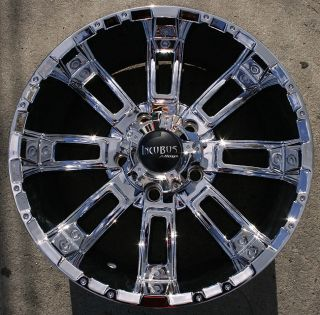 Incubus Crusher 816 20 Chrome Rims Wheels Jeep Wrangler 2007 Up 5x127