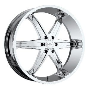 22 inch Milanni Kool Whip 6 Chrome Wheels 5x5 5x127 18