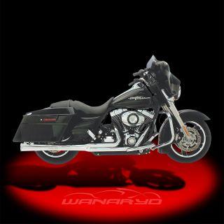 Kerker Supermeg 2 Into 1 Exhaust Systems Black for 2004 2013 Harley
