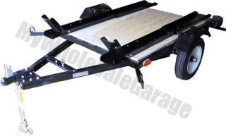 Heavy Duty Motorcycle Bike Rail Hauler Trailer 4x5 Kit Self Assemble