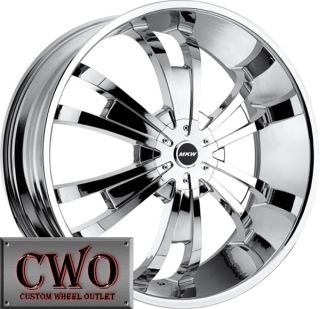 24 Chrome MKW M109 Wheels Rims 5x135 5x139 7 5 Lug Ford F 150 Dodge