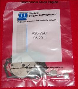 Walbro K20 Wat Carburetor Rebuild Kit