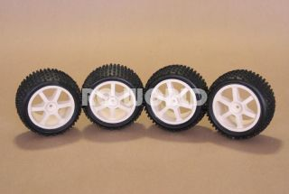 RC 1 10 Buggy Rims Tires Wheels Kyosho Tamiya Wide
