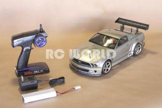 10 RC Ford Mustang GTR Cobra Race Car Brushless RTR Brand New 40 MPH