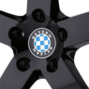 New 18X8.5 5 120 Rapp Gloss Black Machined Lip Wheels/Rims