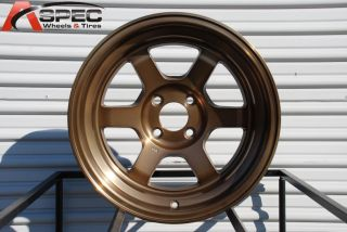 15x8 Rota Grid V 4x114 3 0 Full Royal Sport Bronze Wheel Fits Miata XB