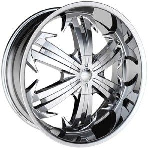 20 inch H6 Chrome Wheels Rims 5x135 Ford F150 5 Lug
