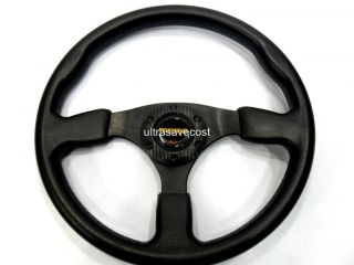 New 14 PU Sport Racing Steering Wheel Horn Button