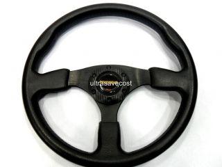 New 14 PU Sport Racing Steering Wheel Horn Button