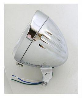 Chrome Bullet Milled Grooved 5 3 4 Headlight H4 Halogen Dot Approved