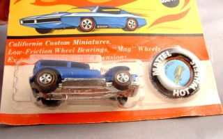 Hot Wheels Redline 1969 THE DEMON MOC on Card with Collectors Button