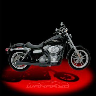Kerker Supermeg 2 Into 1 Exhaust Systems Black for 2006 2011 Harley