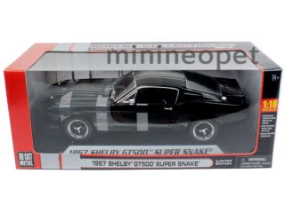 Collectibles 1967 Shelby Mustang GT500 Super Snake 1 18 Black w Silver