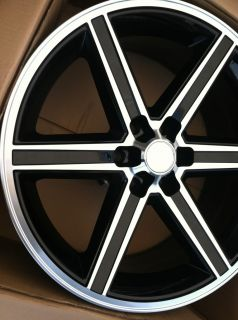 22 IROC Black Rims Tires 6x135 Ford F150 Expedition 10 Offset Only
