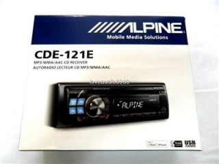 2011 Alpine CDE 121E CD  USB iPod iPhone Car Player