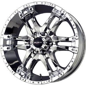 18 inch Ballistic Wizard Chrome Wheels Rims 5x150 30